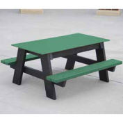4' Kids Picnic Table, Recycled Plastic, Green