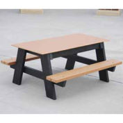 4' Kids Picnic Table, Recycled Plastic, Cedar