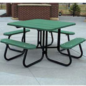 4' Square Picnic Table, Recycled Plastic, Green