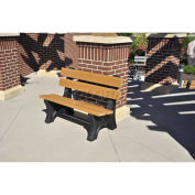6' Colonial Bench, Recycled Plastic, Cedar