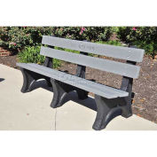 4' Colonial Bench, Recycled Plastic, Gray