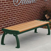 Heritage Backless Bench, Recycled Plastic, 5 ft, Green & Cedar