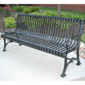 6' Blair Bench, Steel, Black