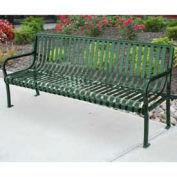 6' Aspen Bench, Steel, Green