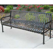 6' Aspen Bench, Steel, Black