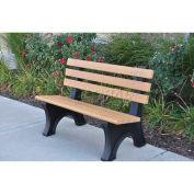 6' Comfort Park Avenue Bench, Recycled Plastic, Cedar