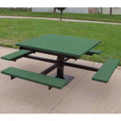 4' T-Table, Recycled Plastic, Green