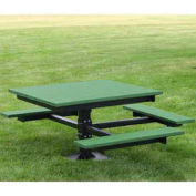 ADA T-Table, Recycled Plastic, 4 ft, Green