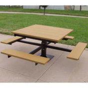 4' T-Table, Recycled Plastic, Cedar