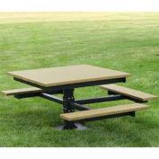 ADA T-Table, Recycled Plastic, 4 ft, Cedar