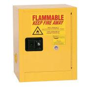 Compact Flammable Cabinet, Self Close Door 4 Gallon