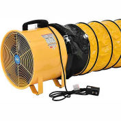 "Portable Ventilation 8"" Fan With 16' Flexible Ducting"