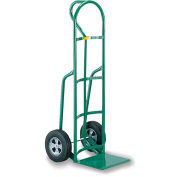 "LITTLE GIANT Oversized Noseplate Hand Trucks - 10"" Solid Rubber - D-Handle"