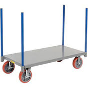 LITTLE GIANT Pipe Stake Truck, 24 x 48, Polyurethane Wheels