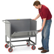 "LITTLE GIANT Three-Sided Stock Trucks - 36""Wx24""D Shelf - with Drop Gate - 6"" Caster Height"