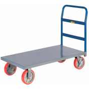 "LITTLE GIANT Fully Assembled Platform Truck with Wheel Brakes - 8"" Polyurethane Casters"