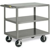 """LITTLE GIANT 3600-Lb. Capacity Shelf Trucks - 48""""Wx24""""D Shelf - 3 Shelves"""