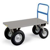 "LITTLE GIANT Cushion Load High-Platform Trucks - 48""Lx24""W Deck - 21"" Deck Height"
