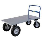 "LITTLE GIANT Cushion Load High-Platform Trucks - 72""Lx36""W Deck - 21"" Deck Height"