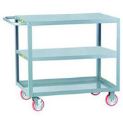 LITTLE GIANT All Welded Service Cart, 3 Flush Top & Middle, 18 x 32