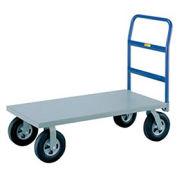 Heavy Duty Platform Truck, 24 x 48, Poly Wheels, 3600 Lb. Capacity