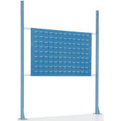 """Risers With Louver Panel for 48"""" Workbench, Blue"""
