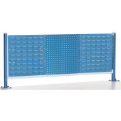 """Risers With Louver/Pegboard Panel for 60"""" Workbench, Blue"""