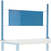 """Risers With Louver/Pegboard Panel for 72"""" Workbench, Blue"""