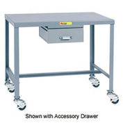 Mobile Steel Top Machine Table - 24 x 36 x 36