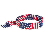 Chill-Its 6700 Evaporative Cooling Bandana - Tie, Stars/Stripes, One Size