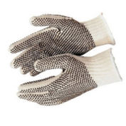 PVC Dot String Knit Gloves, 9660LM, 12-Pair