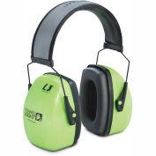 Howard Leight by Honeywell 1013941; Leightning Hi-Visibility Earmuffs, Green/Black