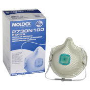 Moldex 2730N100 N100 Particulate Respirators with HandyStrap®, 5/Box