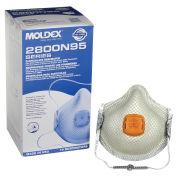 Moldex 2800N95 N95 Particulate Respirators with HandyStrap, Medium/Large, 10/Box