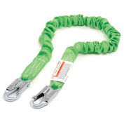 Miller Manyard® ll Shock-Absorbing Lanyards, Locking Snap Hook, 6', Green