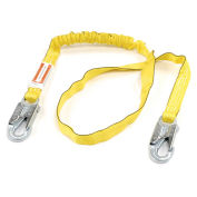 Miller Manyard® Shock-Absorbing Lanyard, Locking Snap Hook, 6', Yellow