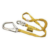 Miller Manyard® Shock-Absorbing Lanyards, Locking Rebar Hook, 6', Yellow