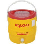 Beverage Cooler, Insulated, Yellow / Red, 3 Gallons