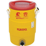 Water & Beverage Cooler, Heat Stress Solution, Yellow, 5 Gallons