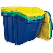 SUNCAST Recycling Hopper Bins - 18-Gallon Capacity