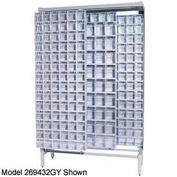 Quantum Gondola Free Standing Slider System With 52 Bins White