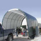 SolarGuard Freestanding Building on Wheels, 14'W x 10'H x 28'L, Green