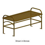 "Sunrise 48"" Backless Bench, Metal Frame, Black"