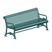 """Lemars 72"""" Metal Frame Bench, Pro Green"""