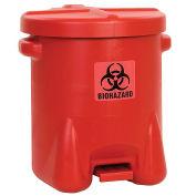 14 Gallon Safety Biohazardous Waste Can, Red
