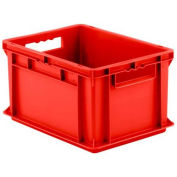 """SSI Schaefer Euro-Fix Solid Container, 16"""" x 12"""" x 9"""", Red - Pkg Qty 12"""