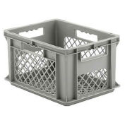 "SSI Schaefer Euro-Fix Mesh Container, 16"" x 12"" x 9"", Gray - Pkg Qty 12"