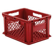 "SSI Schaefer Euro-Fix Mesh Container, 16"" x 12"" x 9"", Red - Pkg Qty 12"