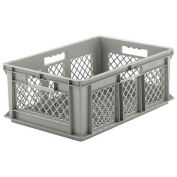 "SSI Schaefer Euro-Fix Mesh Container, 24"" x 16"" x 8"", Gray - Pkg Qty 6"