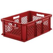 "SSI Schaefer Euro-Fix Mesh Container, Model No. EF6223, 24"" x 16"" x 8"", Red - Pkg Qty 6"